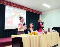 ThS. Phan Nguyễn Khánh Đan - Sự kiện chào đón đại diện Hội sách Frankfurt 2015 ở Trường ĐH Văn Hóa TpHCM