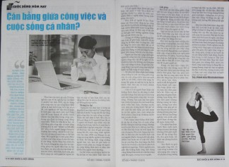 Cân bằng giữa công việc và cuộc sống cá nhân - báo Sức Khỏe Đời Sống - ThS. Phan Nguyễn Khánh Đan