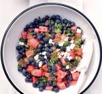 Salad việt quất-dưa hấu-bạc hà-phô mai feta -- blog ThS. Phan Nguyễn Khánh Đan