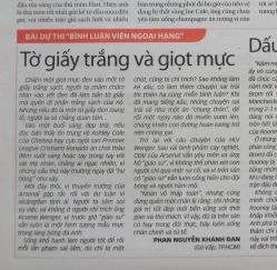 Tờ giấy trắng và giọt mực - ThS. Phan Nguyễn Khánh Đan