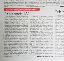"""""""Ý chí quyền lực"""" -- ThS. Phan Nguyễn Khánh Đan"""