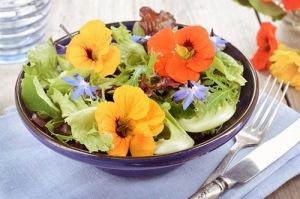 Các món ăn được chế biến từ hoa thật (1)